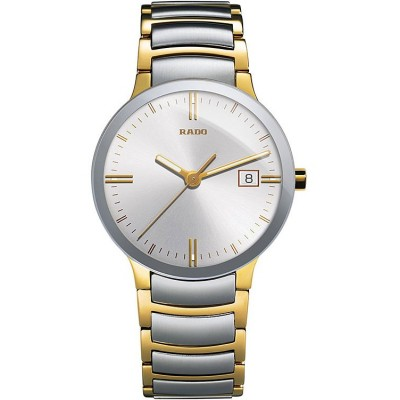 RADO CENTRIX SILVER DIAL TWO TONED STAINLESS STEEL MEN'S WATCH